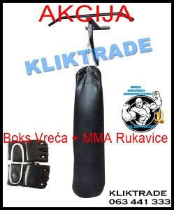 Vreća za Box 20 kg Boks + MMA Rukavice Bandaže