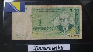 BiH 1 marka 1998 Andrić RIJETKO