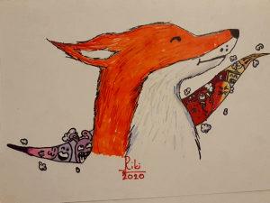 Crtež Doodle Lisica
