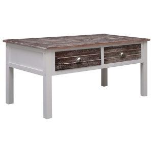 Stolić za kavu smeđi 100 x 50 x 45 cm drveni