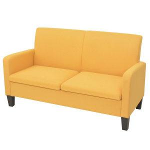 Kauč Dvosjed 135x65x76 cm Žuti
