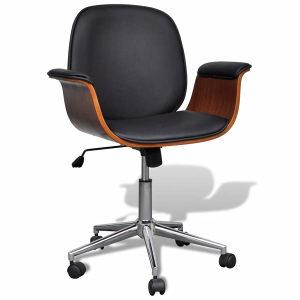 Moderna okretajuća stolica od eko-kože s naslonima za r