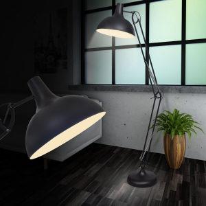 Crna nagibna podna lampa