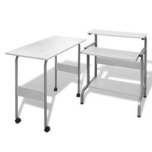 Bijeli uredski stol za računalo podesiva radna stanica