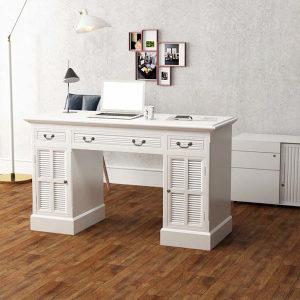Stol s Duplim Postoljem 140x48x80 cm bijeli