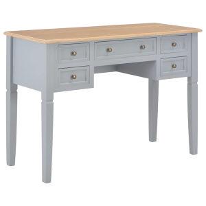 Pisaći stol sivi 109,5 x 45 x 77,5 cm drveni