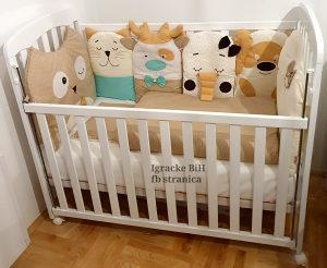 Krevetac za bebe   madrac i ogradica sa dostavom NOVO