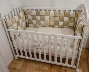 Krevetac za bebe puno drvo Baby Stars NOVO