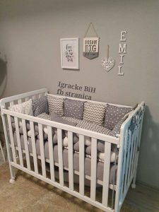 Krevetac za bebe + madrac sa memo pjenom sa dostavom