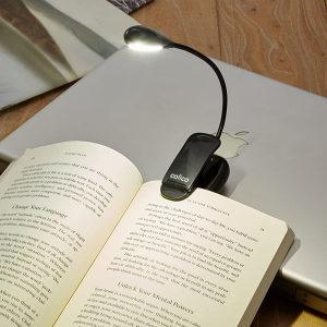 LED lampa za čitanje, štipaljka, ugrađena baterija