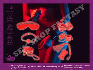 BDSM Sado Mazo Set 7 Red | SEX SHOP FANTASY
