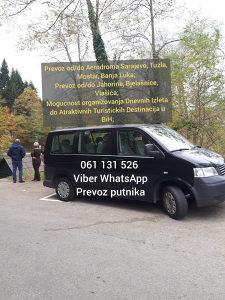 PREVOZ PUTNIKA - TRANSFERI,RENT A CAR sa vozačem