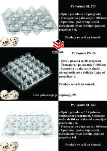 PS posuda za jaja od Japanske prepelice i sl.