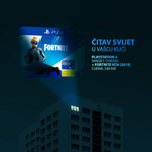 PS4 Sony BLACK F Chassis + FORTNITE