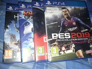 PS4 PES 2019, Horizon, DRIVECLUB, Ratchest & Clank