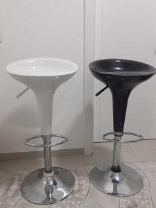 """Barska stolica Venus """"Trend"""" bijela i crna"""