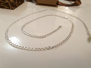 Srebrni lancic, ogrlica, 710x3mm. Novo