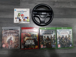 LOT IGRICA: PS3, PS4, XBOX ONE, NINTENDO WII
