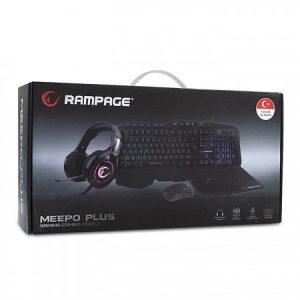 Gaming Set - Tast/Miš/Slušalice/Podloga Rampage MEEPO