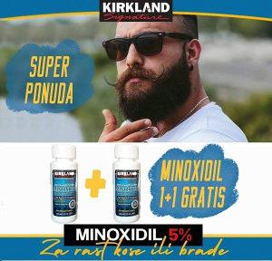 Minoxidil 5% Ulje za Rast Kose i Brade 1+1 GRATIS