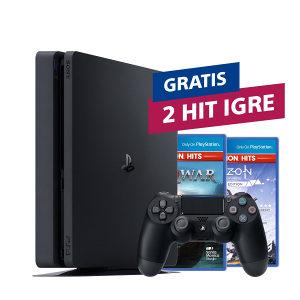 PS4 PlayStation 4 500GB Slim + 2 HIT naslova