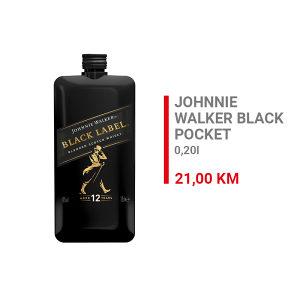 Johnnie Walker Black Label Whisky Pocket 0,2l 000193
