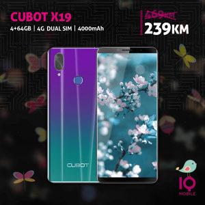 Cubot X19   4GB + 64GB  16 Mpx  3800 mAh