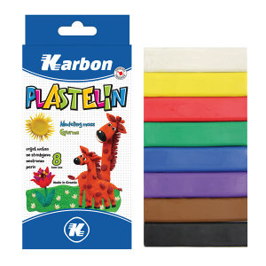 Plastelin 8 boja Karbon  230166
