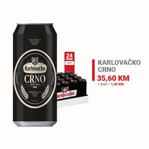 Karlovačko pivo Crno CAN 0,50l 1/20 010330