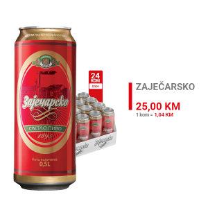 Zaječarsko pivo 0,5l CAN 1/24  100152