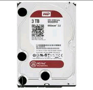 WD HDD 3TB SATA3 RED INTELLIPOWER FOR NAS SYSTEMS