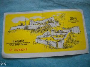 Ulaznica za srednjovjekovnu tvrđavu Travnik