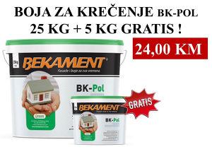 BOJA ZA KREČENJE BK-POL 25 kg + 5 kg GRATIS