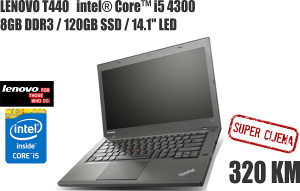 LAPTOP LENOVO i5 4300/8GB DDR3/180 SSD/14.1""