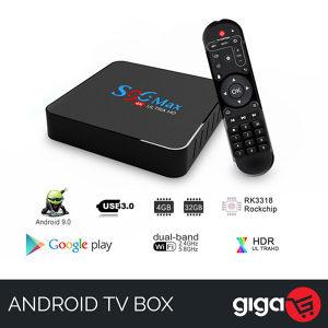 ANDROID TV BOX S96 MAX 4GB RAM 5900 KANALA !!!