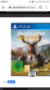 igrica za ps4 The hunter call of the wiled