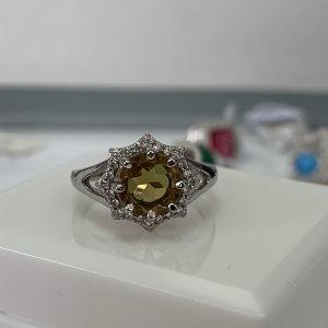 Zenski prsten srebro 925 kamen koji mjenja boju