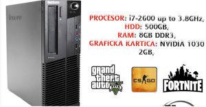 RAČUNAR i7-2600 / 8GB / 500GB / NVIDIA GT 1030 2GB