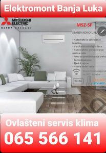 AKCIJA-Klima Mitsubishi SF super Inverter Banja Luka