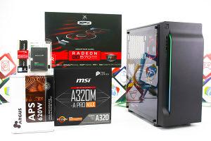 Gaming PC Creek; R7 2700; RX 570; 120GB SSD; 8GB DDR4