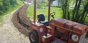 USLUGE KOPANJA ...Freza masina za kopanje kanala iskop