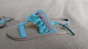 kozne sandale tirkiz boja 36