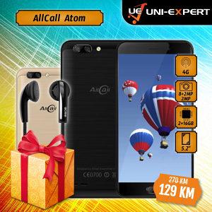 AllCall Smartphone Atom Black/Gold + Poklon