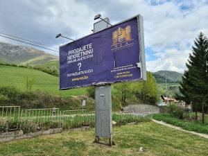 Reklamni pano BILLBOARD magistralni put M5 Travnik