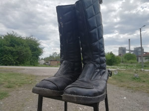 Čizme kožne bajkerske
