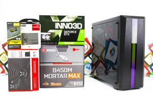 Gaming PC CR100 2; R7 2700; GTX 1660 RGB; SSD; HDD