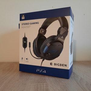 Gaming Headset Stereo PS4 BIGBEN Playstation 4 NOVO GAR