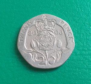 Velika Britanija-Engleska 20 pence 2000.