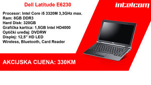 Dell Latitude E6230 Core i5 3rd gen. NOVA BATERIJA