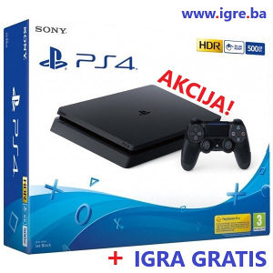 SONY PLAYSTATION 4 SLIM 500GB + HIT IGRA (PS4)